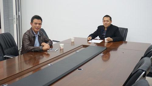 【富轩快讯】百利玛门窗总经理来我公司参观访问