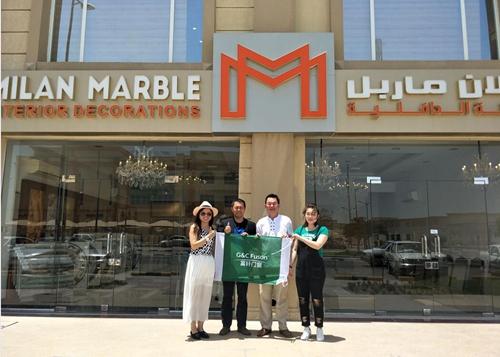 2017年5月卡塔尔国际建材展李董和余总亲自率队参展